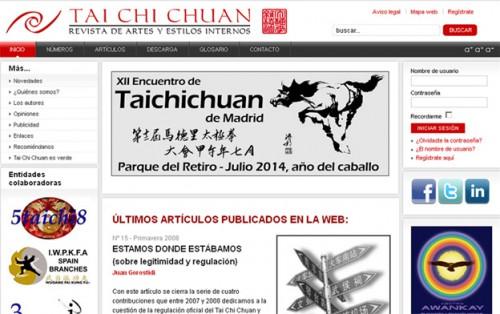 Revista TAI CHI CHUAN (Revista de Artes y Estilos Internos) http://www.taichichuan.com.es